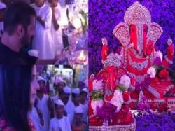 Watch Salman Khan Katrina Kaif Performing Ganesh Aarti At Arpita Khan Sharma Residence