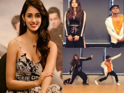 Disha Patani Set Compete Beau Tiger Shroff Dance Watch Her Her Hot Dancing Video