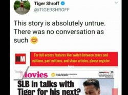 Tiger Shroff Denies Being Approached Sanjay Leela Bhansali S Next