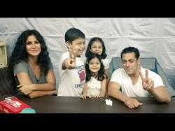 Bharat Salman Khan Katrina Kaif Make Kids Happy Between Film Shoot