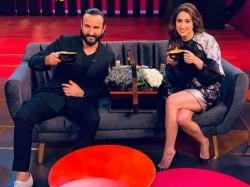 Saif Ali Khan Sara Ali Khan Shoot For Koffee With Karan Season