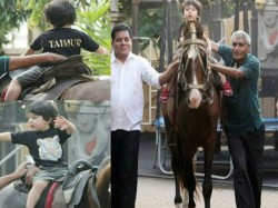 These Pictures Taimur Ali Khan Riding Horse Will Melt Your Heart
