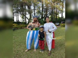Photos Aamir Khan Kiran Rao Turn Obelix Getafix Son Azad S Asterix Themed Party
