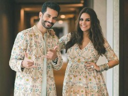 First Picture Neha Dhupia Angad Bedi S Daughter Mehar
