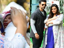 Neha Dhupia Discharge From The Hospital After Delivery See The Is First Photo Of Mehar