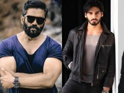 Suniel Shetty Son Ahaan Shetty Looks Exactly Like His Father These 10 Pics Are The Proof