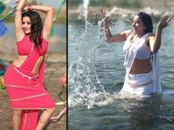 Bhojpuri Superstar Monalisa New Hot White Sari Pic