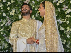 Ranveer Singh Deepika Padukone Wedding Reception Candid Pics Kiss And Giggles