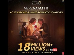 Zero Song Mera Naam Tu Is Youtube Blockbuster Shahrukh Khan S Romance Works Wonder