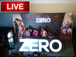 Live Pics Zero Trailer Launch Shahrukh Khan Makes Revelations About Katrina And Anushka
