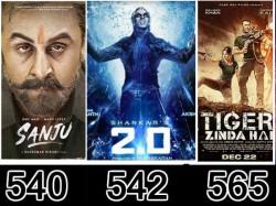 Worldwide Box Office Akshay Kumar Rajnikanth Overseas Collection Beats Sanju
