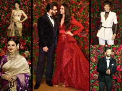 Deepika Padukone Ranveer Singh Reception Party With Bollywood Stars See Pics