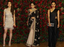 Deepika Padukone Ranveer Singh Reception Party Bollywood Actresses Pics
