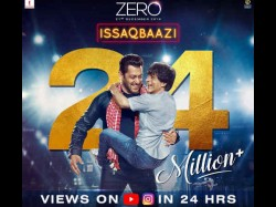 Shahrukh Khan Salman Khan Zero Song Issaqbaazi Crosses 24 Million Views In 24 Hours