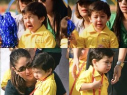 Taimur Ali Khan Wins Gold Medal At His Sports Day Crying Pics As Cheerleader Go Viral