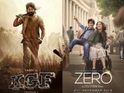 Zero Box Office Vs Kgf Hindi Box Office Collection Zero Flop Kgf Above Average
