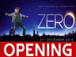 Zero Box Office Day 1 Friday Opening Shahrukh Khan Stands 10th On Occupancy