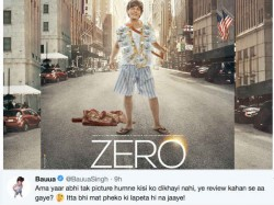 Shahrukh Khan S Bauua Singh Gives Befitting Reply To Trending Fake Zero Review