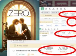 Shahrukh Khan Zero Advance Booking Report Ticket Prices 800 To