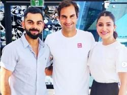 Anushka Virat Met Roger Federer Australia