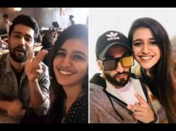 Wink Girl Priya Prakash Varrier Meets Ranveer Singh Vicky Kaushal See Pics