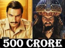 Ranveer Singh Enters 500 Crore Club 2018 With Two Films
