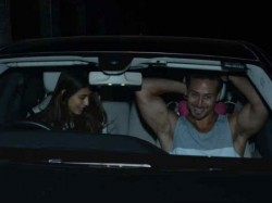 Disha Patani Spotted At Tiger Shroff S House Late Night Go For A Long Drive