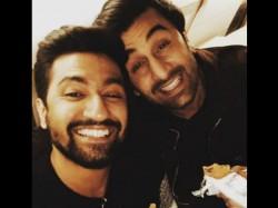 Ranbir Kapoor Vicky Kaushal Reunite See The Sanju Bromance