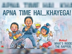 Best Amul Bollywood Film Cartoon Posters Gully Boy Dabangg Baahubali And Others