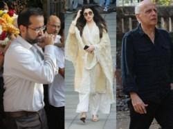 Bollywood Celebrities Reached In Rajkumar Barjatya Funeral