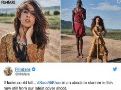 Sara Ali Khan S Wild And Sexy Photoshoot For Filmfare Brutally Trolled For Being Photoshopped