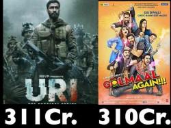 Uri The Surgical Strike Worldwide Box Office Beats Ajay Devgn S Highest Grosser Golmaal Again