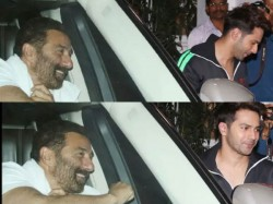 Varun Dhawan Fan Boy Moment With Sunny Deol See Pics