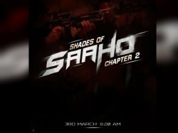 Saaho Poster Prabhas Starrer Saaho New Poster Shades Of Saaho 2 Release