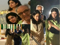 Actress Jhanvi Kapoor Celebrate Her 22nd Birthday With Family Pics