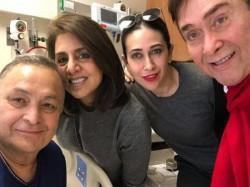 Karishma Kapoor And Randhir Kapoor Visit Rishi Kapoor In New York