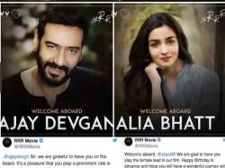 Ajay Devgn Alia Bhatt In Ss Rajamouli S Rrr Release Date Other Details Announced