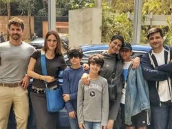 Sonali Bendre Dines With Hrithik Roshan Suzanne Khan And Kids