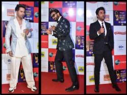 Zee Cine Awards 2019 Red Carpet Pics Actors Varun Dhawan Ranbir Kapoor Ranveer Singh
