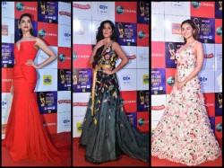 Zee Cine Awards 2019 Red Carpet Pics Actresses Alia Bhatt Deepika Padukone Malaika Arora Katrina