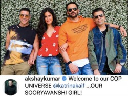 Akshay Kumar Welcomes Katrina Kaif As The Sooryavanshi Girl First Pic Goes Viral