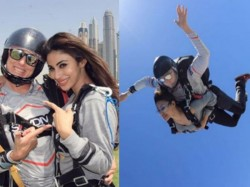 Mouni Roy Doing Sky Diving And Here Is The Photos