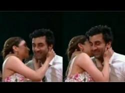 Ranbir Kapoor Shares An Awkward Kiss With Alia Bhatt See Video