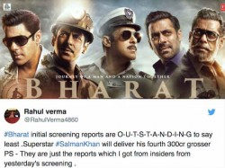Bharat First Review Salman Khan To Deliver His Biggest Eid With A 300 Crore Plus