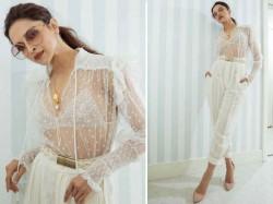 Cannes Film Festival 2019 Deepika Padukone Sexy Sheer Transparent Shirt