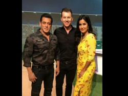 Brett Lee Met Salman Khan And Kaitrina Kaif