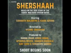 Vikram Batra Biopic Shershaah Announcement Starring Sidharth Malhotra
