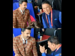 Ranveer Singh Dance With Sunil Gavaskar In Badan Pe Sitare During World Cup Match
