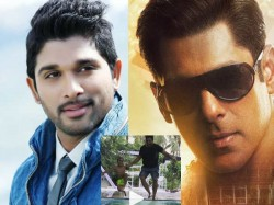 Allu Arjun And His Son Ayaan Jump In The Pool With Salman Khan S Slow Motion Song
