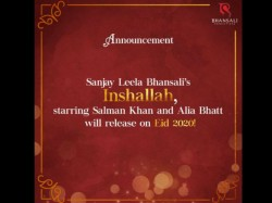 Sanjay Leela Bhansali Locked Eid 2020 For Inshallah Starring Salman Khan Alia Bhatt